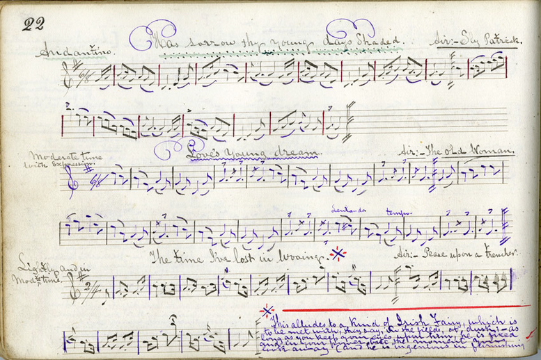 Has sorrow thy young days shaded?, handwritten manuscript