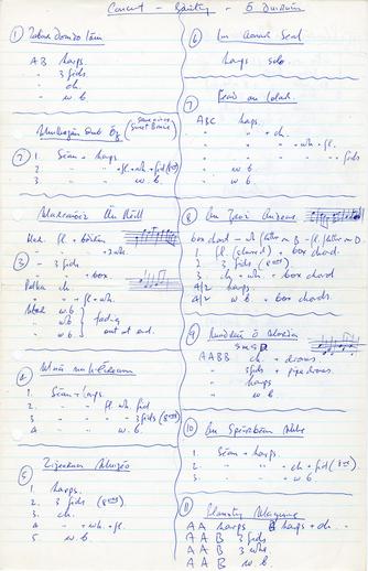 Concert - Gaiety - Ó Doirnín, handwritten manuscript