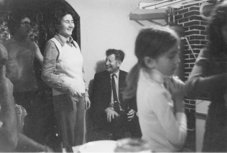 Henry Nash enjoying a party in the Roche's house, Branch, Newfoundland, ca. 1975 / Aidan O'Hara