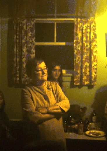 Monica English at a house party in Branch, 1975 / Aidan O'Hara, photographer