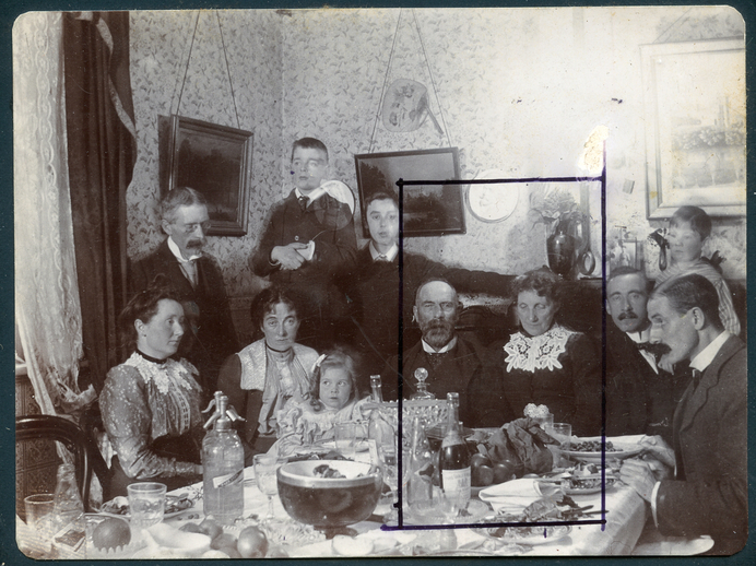 PW Joyce with members of his family, Halloweve 1901 / [unidentified photographer]