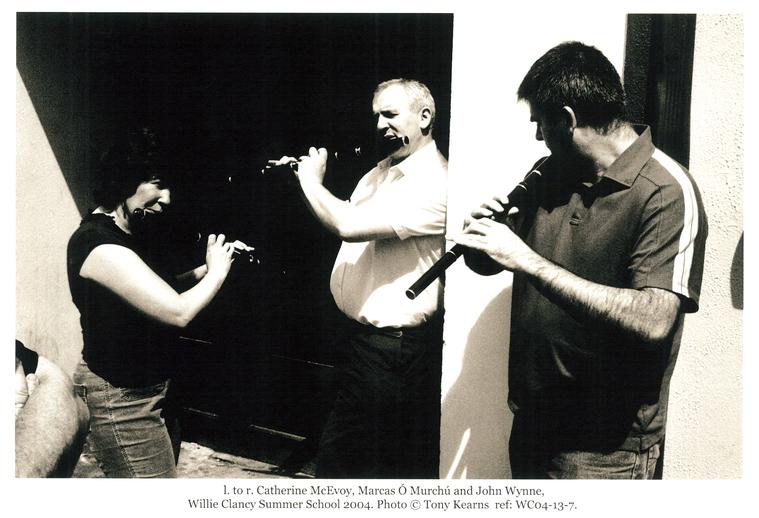 Catherine McEvoy, John Wynne and Marcas Ó Murchú, 2004 / Tony Kearns, photographer