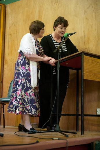 Muireann Ní Dhuigneáin and Bríd O'Donoghue, 2012 / Tony Kearns, photographer