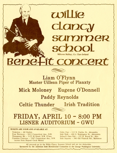 Willie Clancy Summer School, Benefit Concert