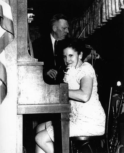 Eleanor Kane, piano ; Johnny McGreevy, fiddle / [unidentified photographer]