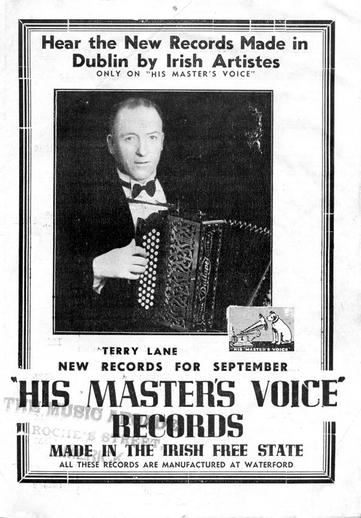 Terry Lane, accordion / HMV