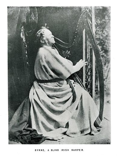 Byrne, a blind Irish harper / unidentified photographer
