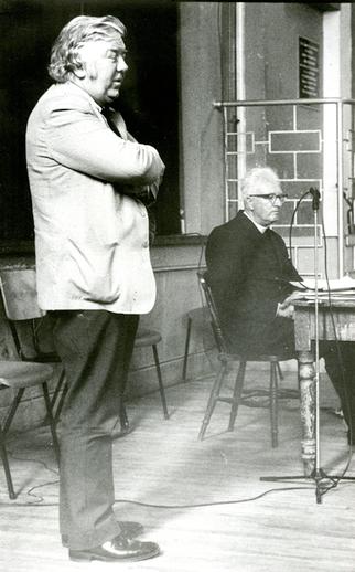 Ciarán Mac Mathúna and An tAthair Séamus Ó Dea, collectors / [unidentified photographer]