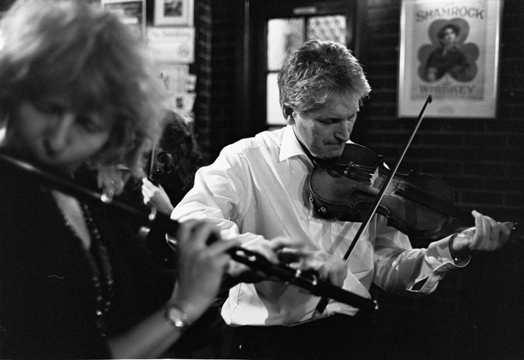 Tara Diamond, flute, and Dermy Diamond, fiddle / Danny Diamond