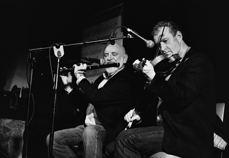Matt Molloy, flute, and John Carty, fiddle, 2011 / Danny Diamond