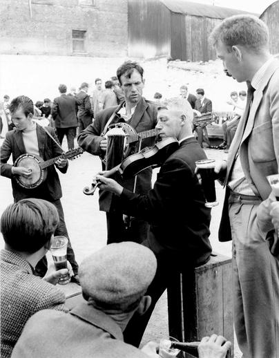Mick Cullen, fiddle, & others, Fleadh Cheoil, Gorey, 1962 / Bord Fáilte