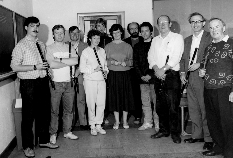 Flute tutors at the Willie Clancy Summer School 1988 [photograph] / Liam McNulty