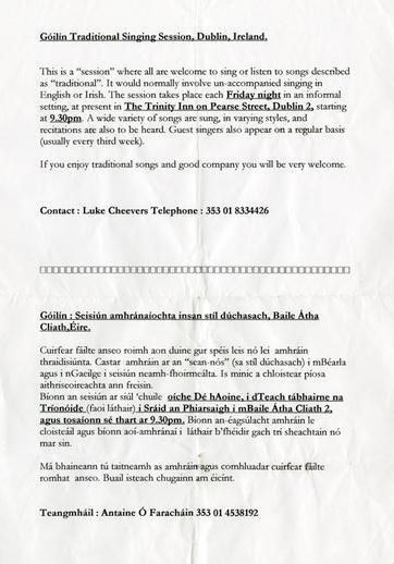 Góilín information sheet