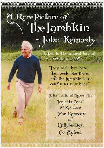 A rare picture of the lambkin: John Kennedy