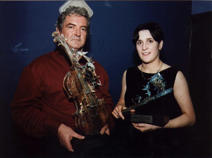 Tommy Peoples & June Nic Chormaic, Ceoltóir na Bliana 1998 & Ceoltóir Óg na Bliana 1998