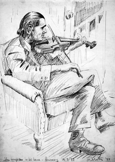 John Loughran, fiddle, 1977 / Eamonn O'Doherty