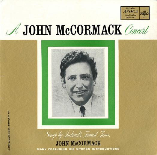 A John McCormack concert / [unidentified designer]