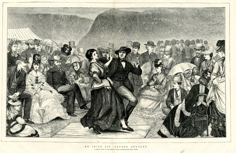 An Irish jig before royalty, 1871 / [unidentified artist]