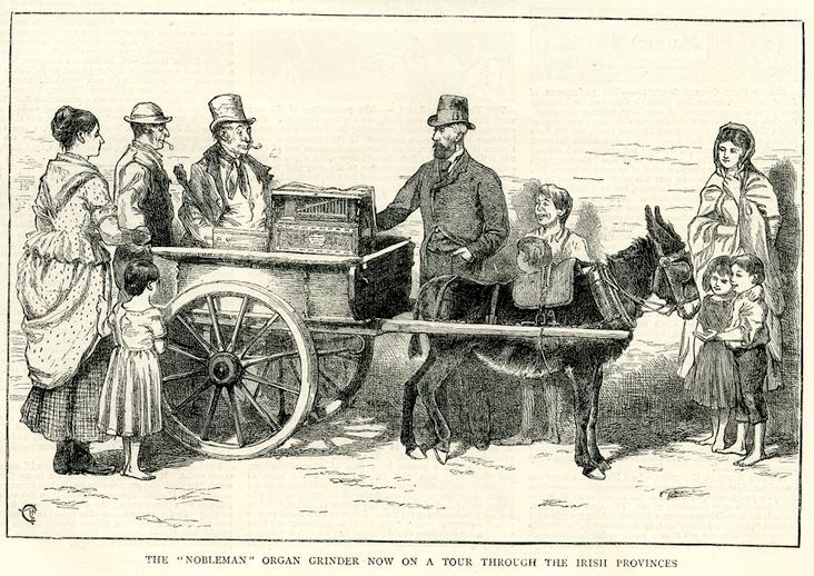 The `nobleman' organ grinder, 1873 / [unidentified artist]