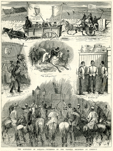 The agitation in Ireland : Incidents of the Parnell reception at Limerick, 1880 / W.R.