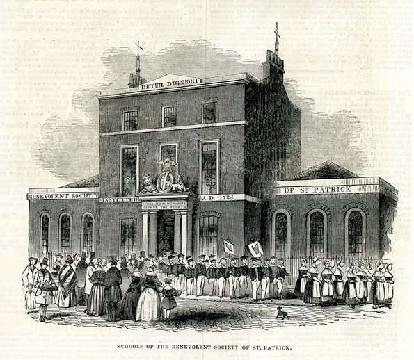 Schools of the benevolent society of St Patrick, 1844 / [unidentified artist]