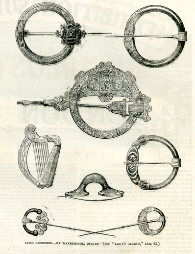 Irish brooches, by Waterhouse, Dublin,1851 / [unidentified artist]