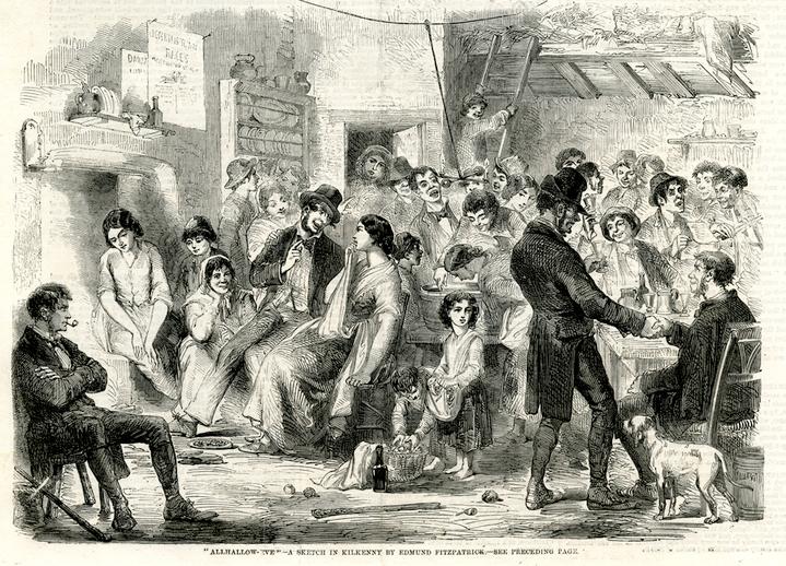 `Allhallow-Eve', a sketch in Kilkenny, 1858 / Edmund Fitzpatrick