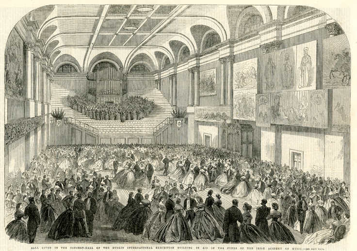 Concert hall of the Dublin International Exhibition Building, 1865 / [unidentified artist]