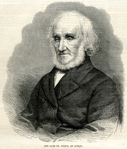 The late Dr Petrie of Dublin, 1866 / [unidentified artist]