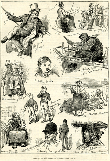 Sketches of Irish character in Dublin, 1881 / Harry Furness