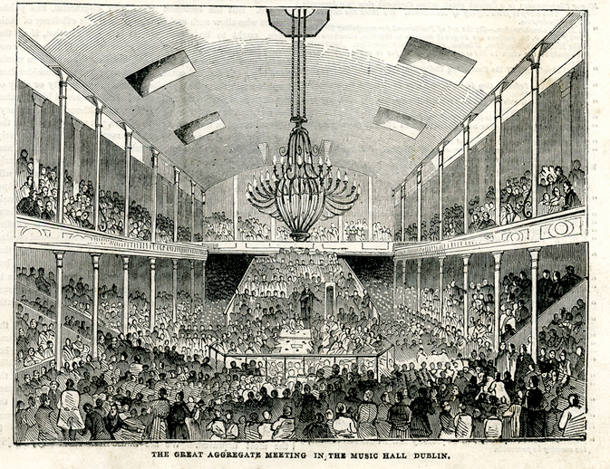 The great aggregate meeting in the Music Hall Dublin, 1844 / [unidentified artist]
