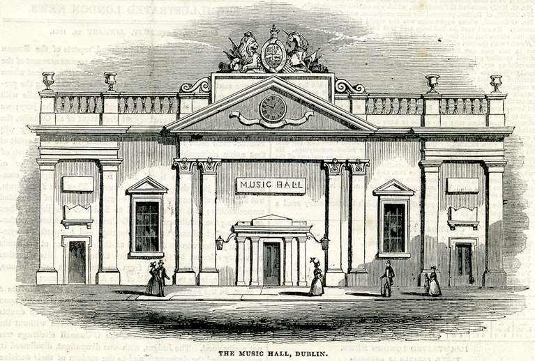 The Music Hall Dublin, 1844 / [unidentified artist]