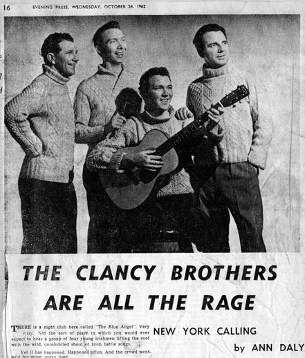 The Clancy Brothers & Tommy Makem, group, 1962 / Evening Press photographer