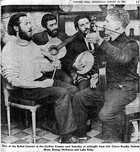 The Dubliners, singers, 1963 / Evening Press photographer