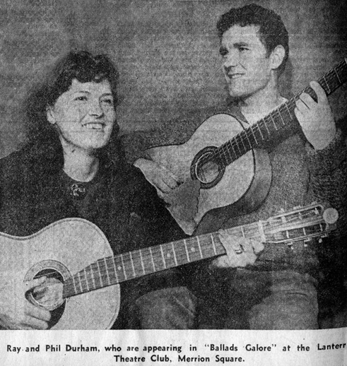 Ray and Phil Durham, singers, 1964 / Evening Press photographer
