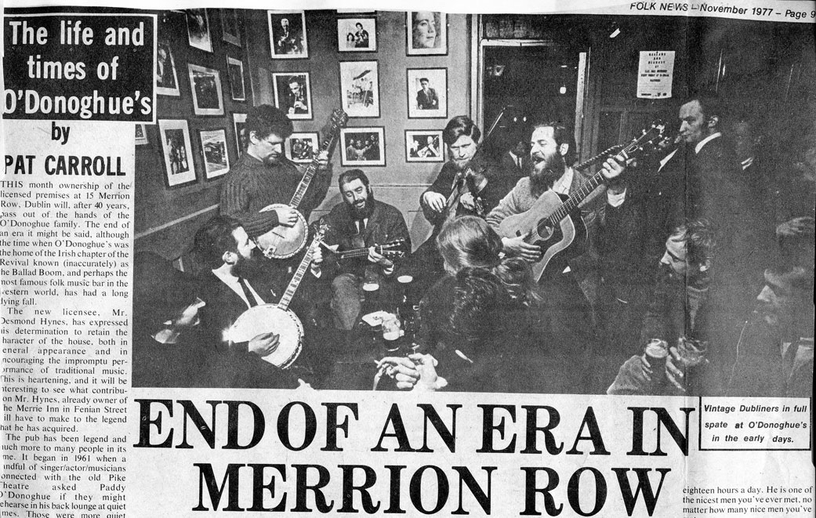 The Dubliners, group, 1977 / unidentified photographer