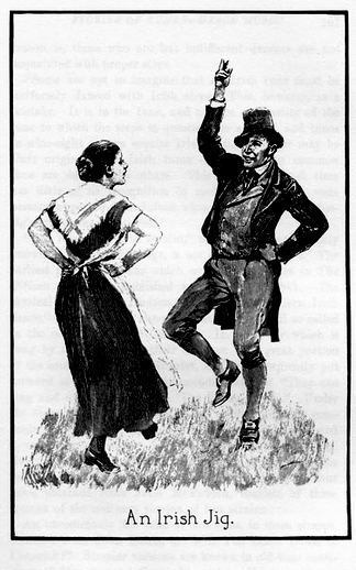An Irish jig, dancer / unidentified artist