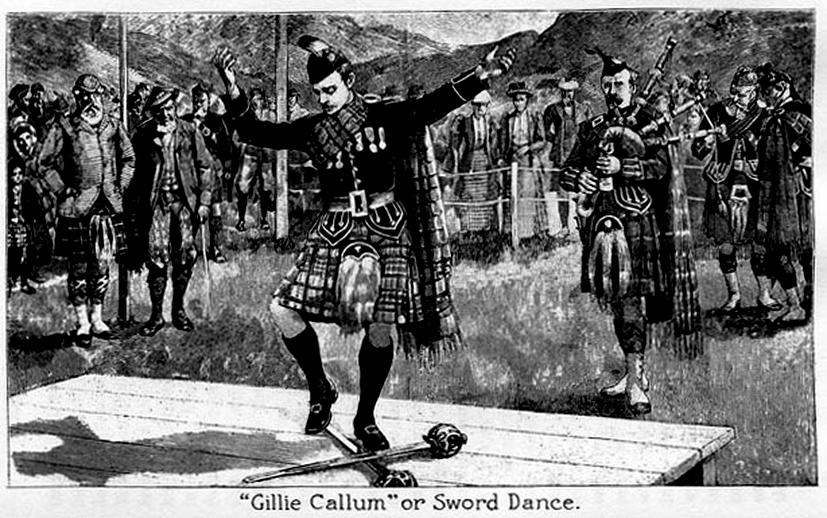 Gillie Callum or sword dance / unidentified artist