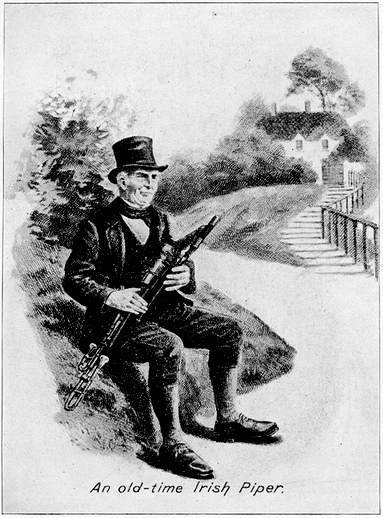 An old-time Irish piper / unidentified artist