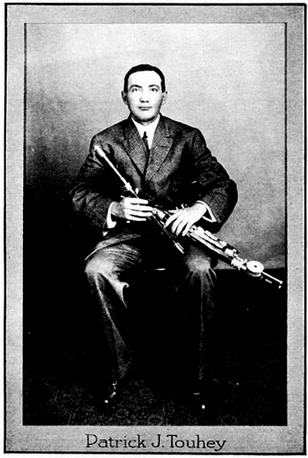 Patrick J. Touhey, uilleann pipes / unidentified photographer