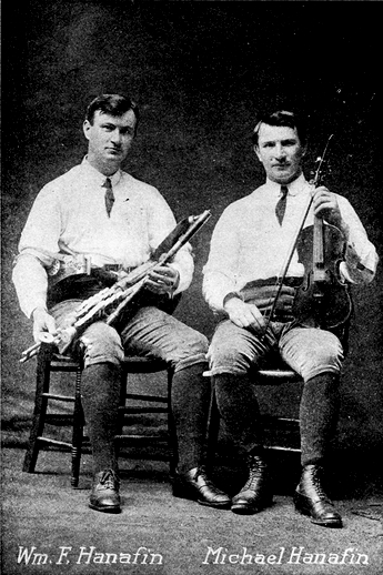 William F. Hanafin, uilleann pipes, & others / unidentified photographer