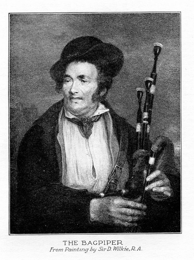 The bagpiper / D. Wilkie