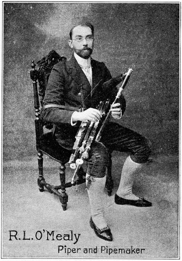 R.L. O'Mealy, uilleann pipes / unidentified photographer