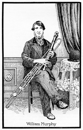 William Murphy, uilleann pipes / unidentified artist