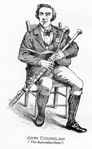 John Coughlan, uilleann pipes / unidentified artist
