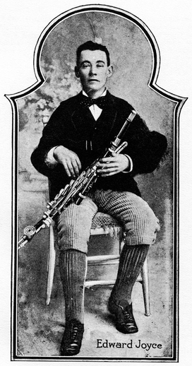 Edward Joyce, uilleann pipes / unidentified photographer