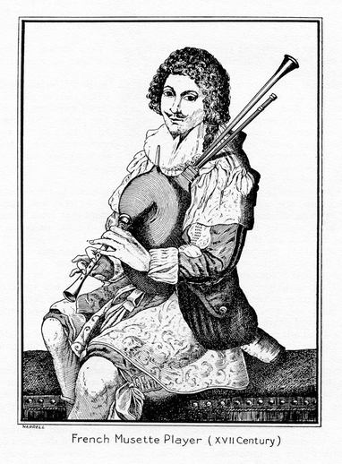French Musette Player, 17th century / unidentified artist