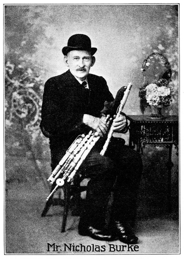 Nicholas Burke, uilleann pipes / unidentified photographer
