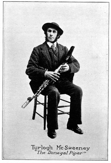Turlogh McSweeney, uilleann pipes / unidentified photographer