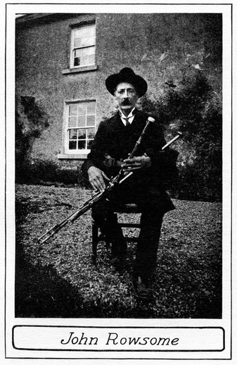 John Rowsome, uilleann pipes / unidentified photographer